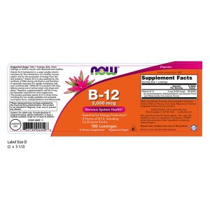 Vitamine B-12, *Vegan* 2000mcg x 100 Zuigtabletten | Now Foods Biotheek.com