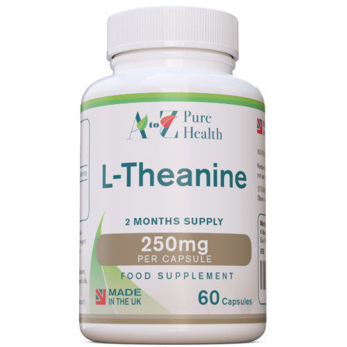 L-Theanine 250mg, 60 Capsules | AtoZ Pure Health Biotheek.com